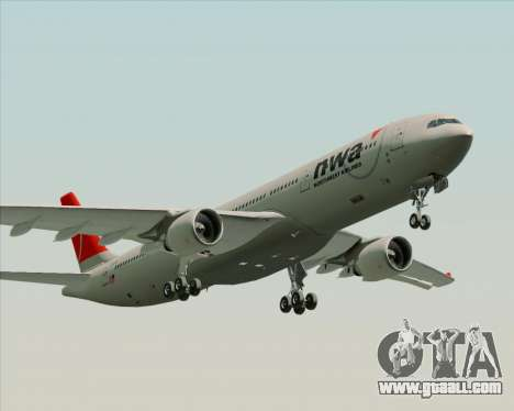 Airbus A330-300 Northwest Airlines for GTA San Andreas left view