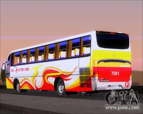Marcopolo Victory Liner 7001 for GTA San Andreas back left view