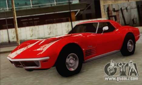 Chevrolet Corvette ZR1 1970 for GTA San Andreas