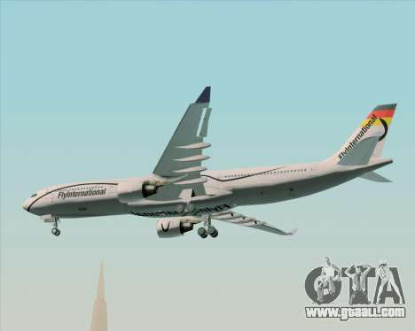 Airbus A330-300 Fly International for GTA San Andreas inner view