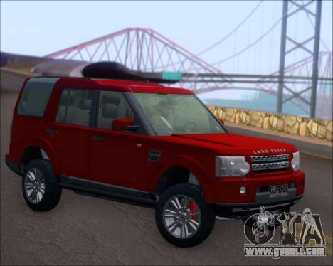Land Rover Discovery 4 for GTA San Andreas right view