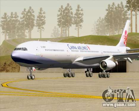 Airbus A340-313 China Airlines for GTA San Andreas left view