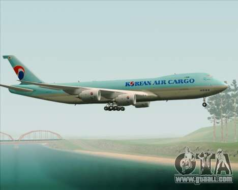 Boeing 747-8 Cargo Korean Air Cargo for GTA San Andreas side view