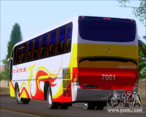 Marcopolo Victory Liner 7001 for GTA San Andreas upper view