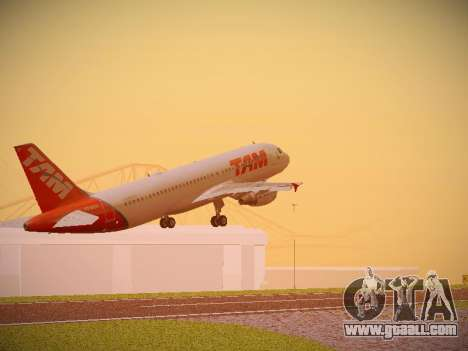Airbus A320-214 TAM Airlines for GTA San Andreas back view