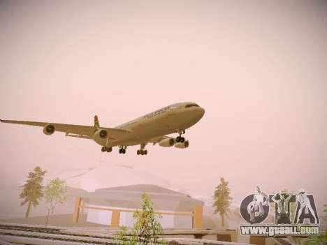 Airbus A340-300 South African Airways for GTA San Andreas right view