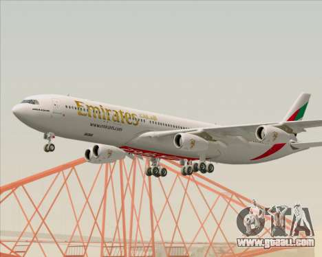 Airbus A340-313 Emirates for GTA San Andreas inner view