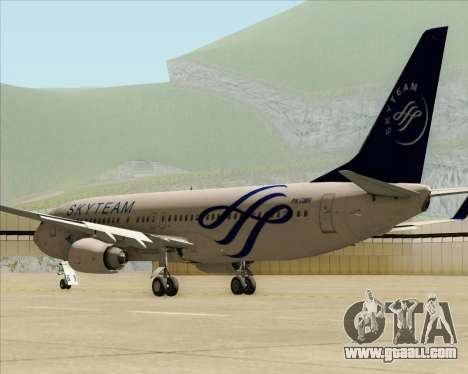 Boeing 737-86N Garuda Indonesia for GTA San Andreas back left view