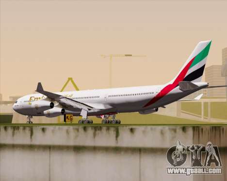 Airbus A340-313 Emirates for GTA San Andreas right view