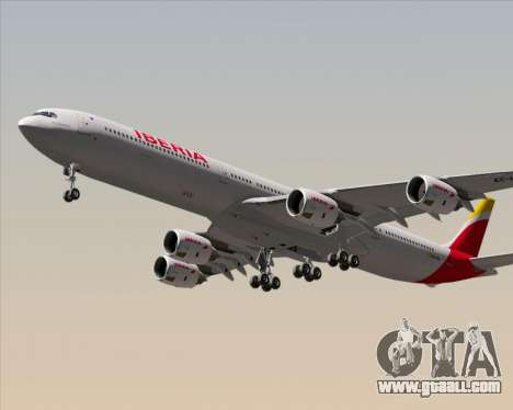 Airbus A340-642 Iberia Airlines for GTA San Andreas right view