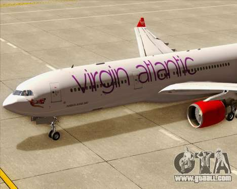 Airbus A330-300 Virgin Atlantic Airways for GTA San Andreas interior