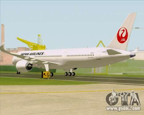 Airbus A350-941 Japan Airlines for GTA San Andreas right view