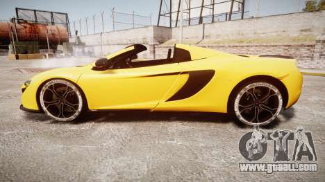 McLaren 650S Spider 2014 [EPM] Michelin v4 for GTA 4 left view