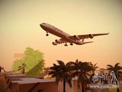 Airbus A340-600 Qatar Airways for GTA San Andreas inner view