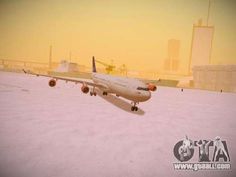Airbus A340-300 Scandinavian Airlines for GTA San Andreas upper view
