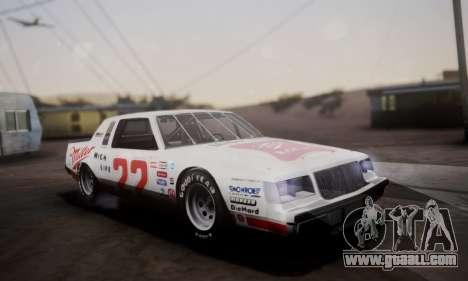 Buick Regal 1983 for GTA San Andreas upper view