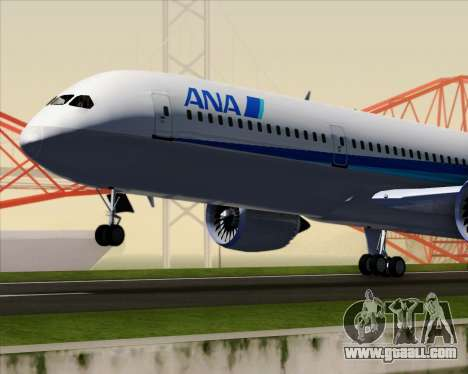 Boeing 787-9 All Nippon Airways for GTA San Andreas upper view