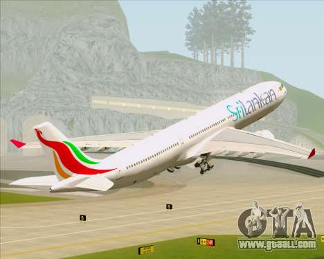 Airbus A330-300 SriLankan Airlines for GTA San Andreas wheels