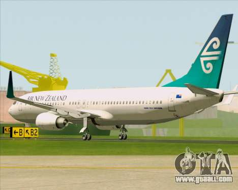 Boeing 737-800 Air New Zealand for GTA San Andreas right view
