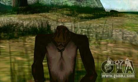 Sasquatch (Bigfoot) on mount Chiliad for GTA San Andreas