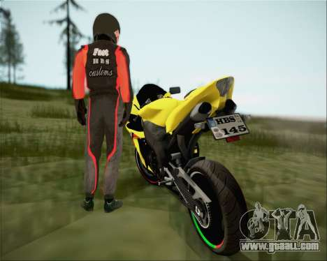 Yamaha R1 HBS Style for GTA San Andreas back left view