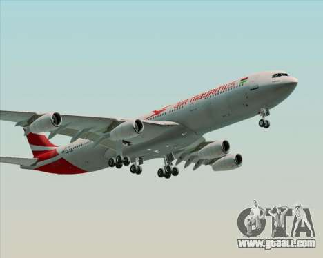 Airbus A340-312 Air Mauritius for GTA San Andreas left view