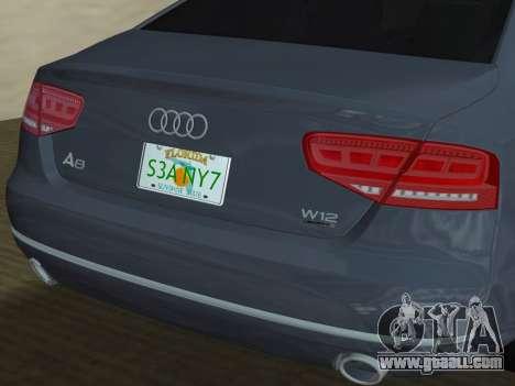 Audi A8 2010 W12 Rim1 for GTA Vice City wheels