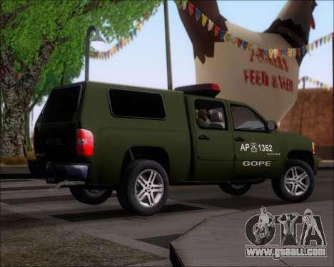 Chevrolet Silverado Gope for GTA San Andreas right view