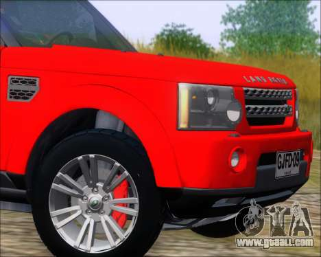 Land Rover Discovery 4 for GTA San Andreas