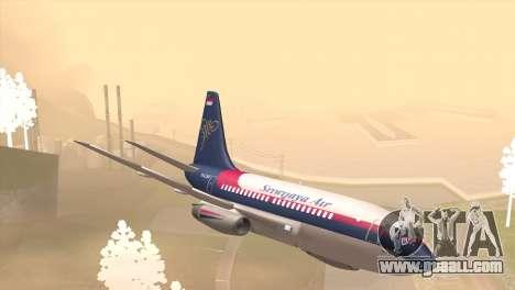 Indonesian Plane Sriwijaya Air for GTA San Andreas