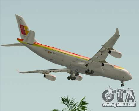 Airbus A340 -313 Iberia for GTA San Andreas side view