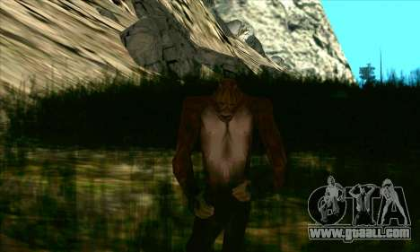 Sasquatch (Bigfoot) on mount Chiliad for GTA San Andreas second screenshot