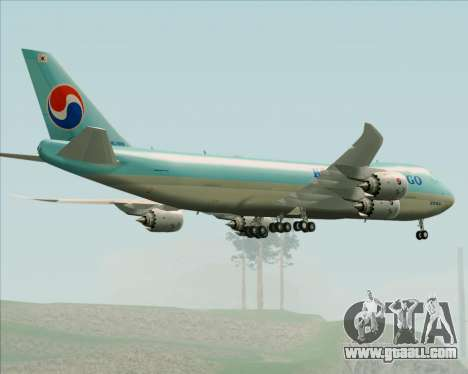 Boeing 747-8 Cargo Korean Air Cargo for GTA San Andreas bottom view