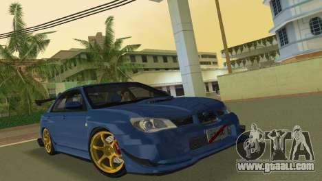 Subaru Impreza WRX STI 2006 Type 2 for GTA Vice City left view