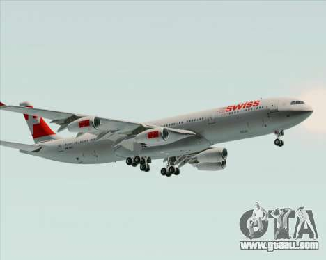 Airbus A340-313 Swiss International Airlines for GTA San Andreas back view