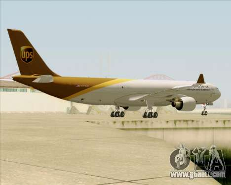 Airbus A330-300P2F UPS Airlines for GTA San Andreas bottom view