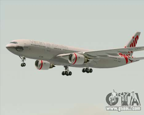 Airbus A330-200 Virgin Australia for GTA San Andreas inner view