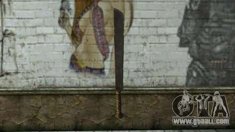 Machete from Assassins Creed 4: Freedom Cry for GTA San Andreas second screenshot