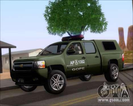 Chevrolet Silverado Gope for GTA San Andreas left view