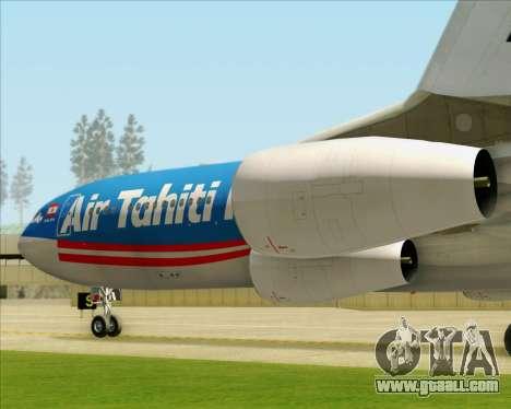 Airbus A340-313 Air Tahiti Nui for GTA San Andreas wheels