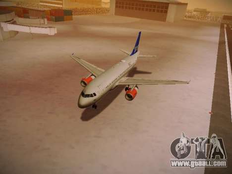 Airbus A319-132 Scandinavian Airlines for GTA San Andreas wheels