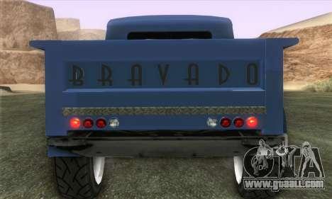 Bravado Duneloader Classic 1.0 (IVF) for GTA San Andreas back left view