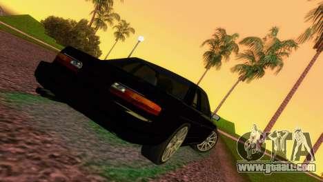Nissan Silvia S13 RB26DETT Black Revel for GTA Vice City back left view
