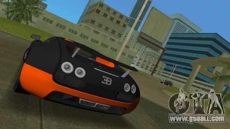 Bugatti Veyron Super Sport for GTA Vice City back left view
