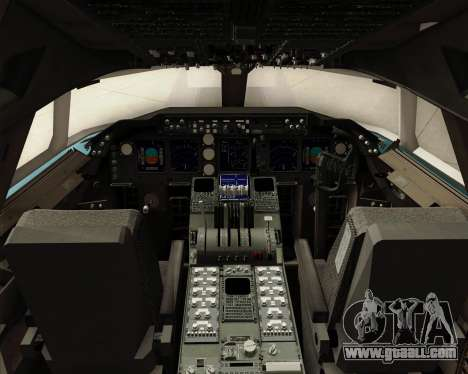 Boeing 747-8 Cargo Korean Air Cargo for GTA San Andreas interior