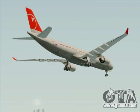 Airbus A330-300 Northwest Airlines for GTA San Andreas upper view