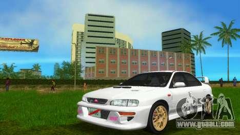 Subaru Impreza WRX STI GC8 Sedan Type 3 for GTA Vice City back left view