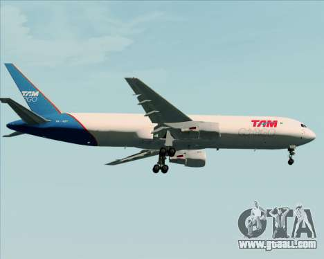 Boeing 767-300ER F TAM Cargo for GTA San Andreas side view