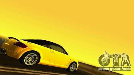 Audi TT Coupe BiMotor Black Revel for GTA Vice City right view