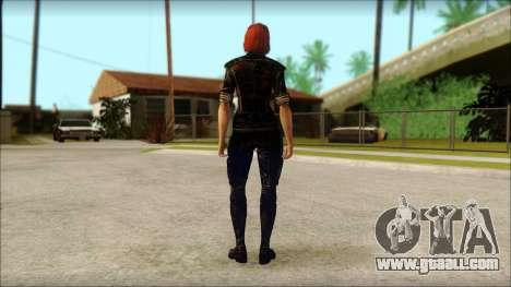 Mass Effect Anna Skin v9 for GTA San Andreas second screenshot